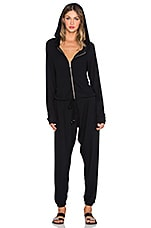 Michael Lauren Fargo Zip Up Jumpsuit in Jet Black