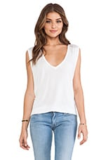 Jerry V-Neck Sleeveless Tee in White