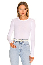 Michael Lauren Everett Long Sleeve Thumbhole Tee in White
