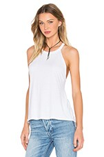 Michael Lauren Cactus High Neck Tank in Faded White