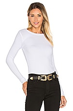 Webb Rib Fitted Top in White