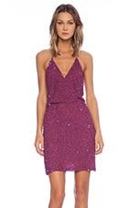 MLV Mira Spaghetti Strap Sequin Dress in Raspberry