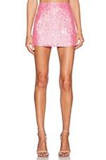 Justin Sequin Mini Skirt in Carnation