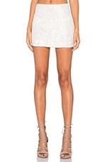 Justin Sequin Mini Skirt in White