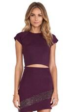 Kim Crop Top in Purple