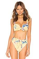 Montce Swim Kayla Bikini Top in Yellow Batik