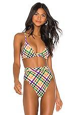 Montce Swim Palua Bikini Top in Summer Plaid