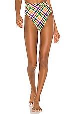 Montce Swim Paulina Bikini Bottom in Summer Plaid