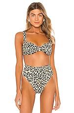 Montce Swim Bustier Bikini Top in Leopard