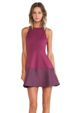 Circular Dress in Sangria
