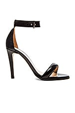 Ankle Strap Sandal in Black Lizard