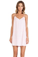 Motel Mini Slip Cami Dress in Pink Gingham