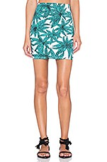Kimmy Skirt in Green Jungle Palm