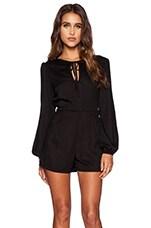Hippie Playsuit in Black