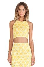 Folly Crop in Lemonade Yellow