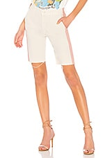 MOTHER The High Waisted Vagabond Prep Fray Short in Ivory