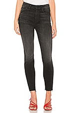 MOTHER High Waisted Looker Ankle Fray in Night Hawk
