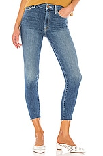 MOTHER High Waisted Looker Ankle Fray in Big Sky