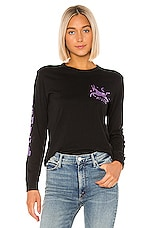 MOTHER The Long Sleeve Crop Goodie Goodie Fray Tee in Cosmic Download