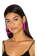 Candongas Petit Earrings in Fuchsia