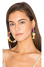 Fiesta Hoop Earrings in Yellow