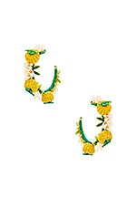 Mercedes Salazar Limones Y Flores Earrings in Yellow