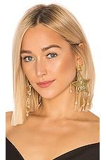 Mercedes Salazar Estrella Fugaz Blanca Earrings in Gold