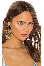 Mercedes Salazar El Chaman Murcielago Aterrizando De Su Vuelo Earrings in Gold
