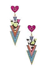 Mercedes Salazar Curubas Petite Earrings in Pink & Blue