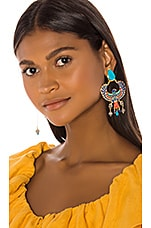 Mercedes Salazar Eagle Earring in Blue