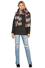 Maison Scotch Double Sided Pattern Scarf in Plaid