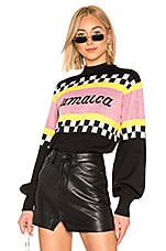 MSGM Jamaica Racing Sweater in Black