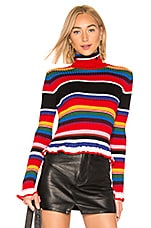 MSGM Ribbed Sweater in Rainbow