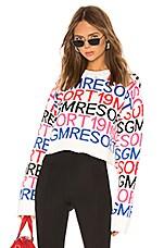 MSGM Logo Sweatshirt in Black & White