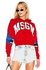 MSGM Panel Sweatshirt in Red