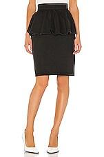 MSGM Peplum Skirt in Black