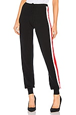 MADELEINE THOMPSON Lecce Jogger Pants in Black, Cream & Red