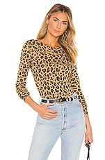 MADELEINE THOMPSON Gill Bodysuit in Dark Leopard