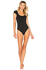 Marysia Swim Scalloped Mexico One Piece in Black