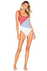 Marysia Swim Wainscott One Piece in Multi Gingham