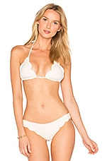 Broadway Triangle Bikini Top in White