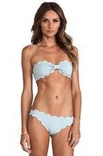 Marysia Swim Antibes Scalloped Bandeau Bikini in Seafoam