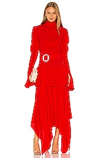 MATERIEL High Neck Belted Gown in Poppy