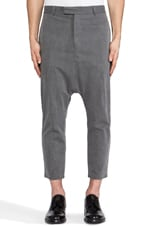 Andrew Slub Span Pant in Washed Gray