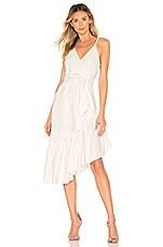 Marissa Webb Kierra Dress in Linen White Pinstripe