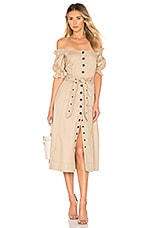 Marissa Webb Charlize Canvas Dress in Sandshell