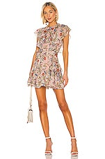 Marissa Webb Sully Mini Dress in Dusty Rose English Bouquet