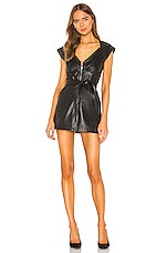 Marissa Webb Ryland Leather Dress in Black