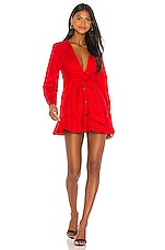 Marissa Webb Janelle Lightweight Canvas Dress in Rouge