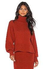 Marissa Webb Sloane Turtleneck Pullover in Paprika